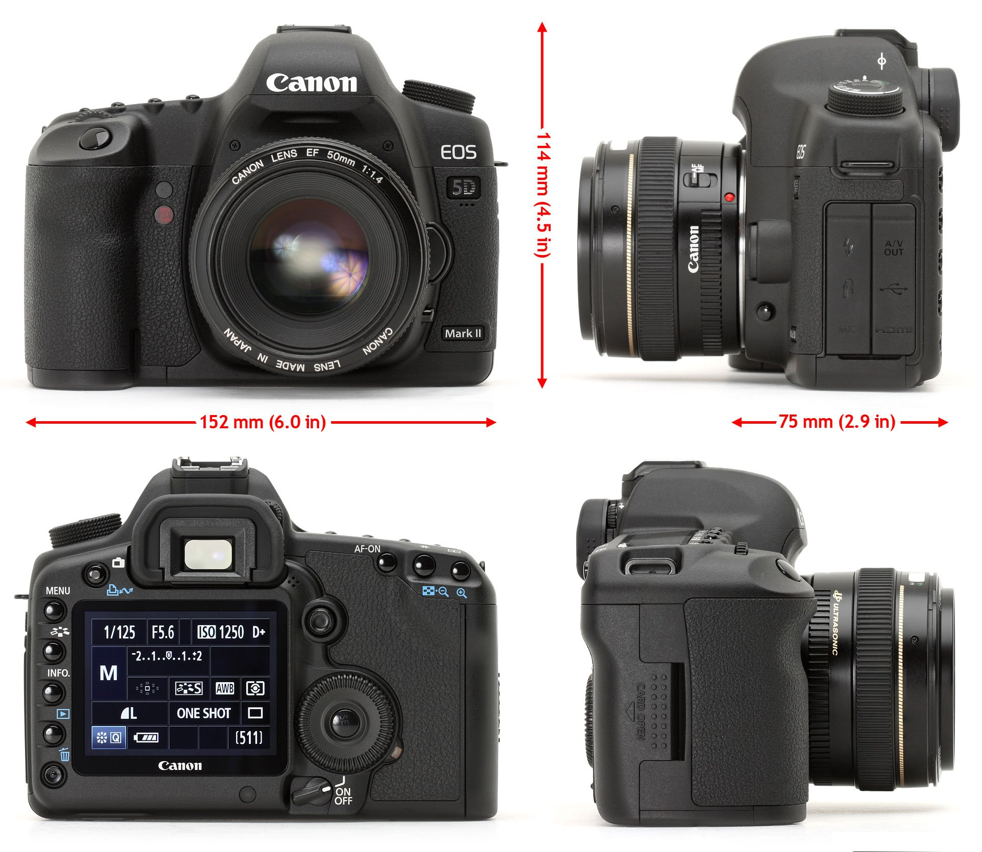 Canon 5d2 Battery Allroundview