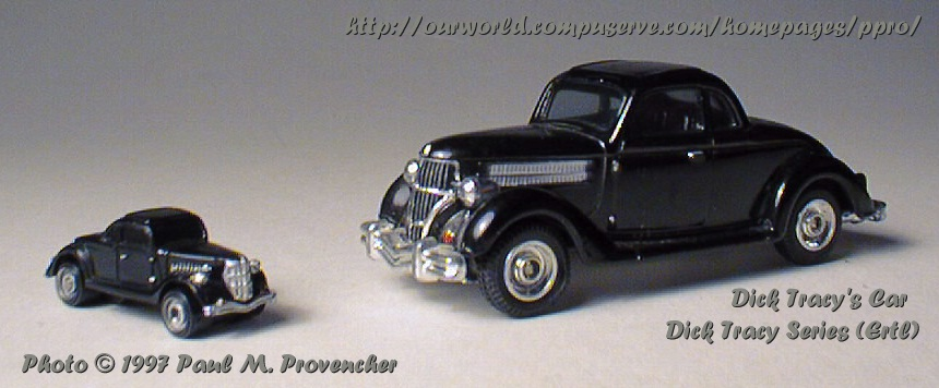 die cast pro dick tracy 39 s car. Black Bedroom Furniture Sets. Home Design Ideas